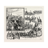 The Carnival at Lucerne (Luzern) Switzerland Giclee Print