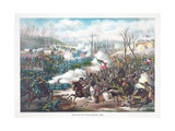 Battle of Pea Ridge, Arkansas, Pub. Kurz and Allison, 1889 Giclee Print