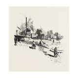 Manitoba, Steamboat Landing, Canada, Nineteenth Century Giclee Print