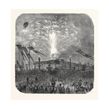 Fireworks in the Place De La Concorde, 1852 Giclee Print