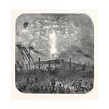 Fireworks in the Place De La Concorde, 1852 Giclee Print