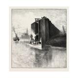 New Brunswick, Wharf at St. Andrews, Canada, Nineteenth Century Giclee Print