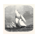 The Royal Thames Yacht Club Match: Finish of the Race 1869 Giclee Print