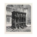 Shrine in St. Alban's Abbey Recently Discovered 1873 Giclee Print