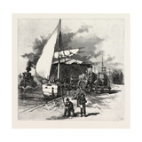 Montreal, Unloading Hay Barges, Canada, Nineteenth Century Giclee Print