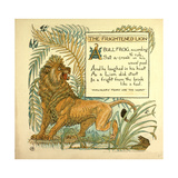 The Frightened Lion Giclee Print