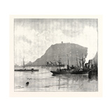 Monjuich, from the Harbour, Barcelona, Spain Giclee Print