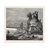 Idols on the Banks of the River Irrawaddy, Burmah Giclee Print