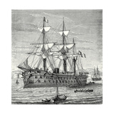 The 'Solferino' Ironclad Steam-Propelled Warship Launched in 1863 Giclee Print