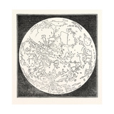 Map of the Moon 1833 Giclee Print