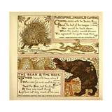 Porcupine Snake and Company the Bear and the Bees Giclee Print