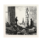 Explosion at the Parliament House, Quebec Canada, 1884 Giclee Print
