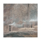 Kilns for Lime Production, Alborz Mountain Range, Northern Iran Giclee Print