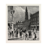 Leeds, Corner of Briggate and Boar Lane, UK Giclee Print