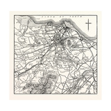 Map of the Environs of Edinburgh Giclee Print