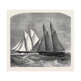 The Anglo-American Yacht Race Between the Sappho and the Cambria, 1870 Giclee Print