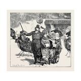 Police Convoy in Boston, 1870 Giclee Print