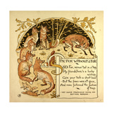 The Fox Without a Tail Giclee Print