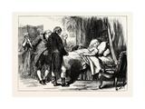 George Washington on His Deathbed, USA, 1870s Giclee Print