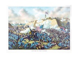 Capture of Fort Fisher, Pub. Kurz and Allison, 1890 Giclee Print
