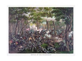 Battle of the Wilderness, Pub. Kurz and Allison, 1887 Giclee Print