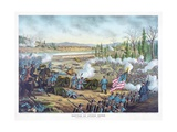 Battle of Stones River, Pub. Kurz and Allison, 1891 Giclee Print