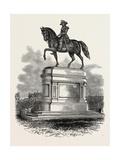Statue of Washington at Boston, USA, 1870S Giclee Print