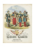 Zouave Cadets Quickstep Sheet Music Cover Giclee Print