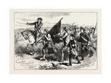 The Crowd at Springfield with the Black Flag, USA, 1870s Giclee Print