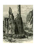 The Cathedral Spires in the Garden of the Gods, USA, 1891 Giclee Print