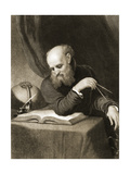Galileo with Compass and Diagrams, C.1880 Giclee Print