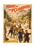 Poster Advertising 'Heart of the Klondike' by Scott Marble, 1897 Giclee Print