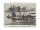 Weybridge Regatta, Robinson Crusoe Prize Boat Giclee Print