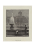 Caught Fishing in Preserved Waters, a Tragedy in Trafalgar Square Giclee Print