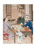 A Game of Strategy in China, Late 18th Century Giclee Print