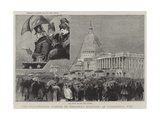 The Inauguration Address of President Harrison, at Washington, Usa Giclee Print