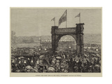 Cutting the First Turf of the Natal Government Railway at Durban Giclee Print
