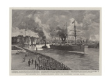 The Disaster to a French Atlantic Liner, La Bourgogne Leaving Havre Giclee Print