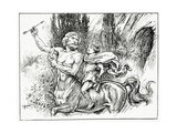Hercules and Chiron, from 'The Book of Myths' by Amy Cruse, 1925 Wydruk giclee