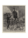 Winter in the French Landes, the Rural Postman on His Rounds Giclee Print