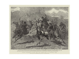 Herati Horsemen Playing the Baz Gadeh Bazi or Goat-Neck Game Giclee Print
