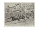 The Horse-Race, or Palio, at Sienna, the Race in the Piazza Giclee Print