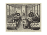 New Saloon Carriage on the London, Brighton, and South Coast Railway Giclee Print