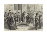 The Prince of Wales Opening the New Townhall at Bolton Giclee Print