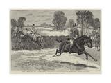 The House of Commons Point-To-Point-Steeplechase Near Rugby Giclee Print