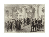 The Lord Lieutenant Holding a State Reception at Dublin Castle Giclee Print