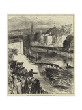 Scene of the Disaster at the Widcombe Foot-Bridge, Bath Giclee Print