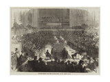 Billiard-Match for the Championship, at St James's Hall Giclee Print