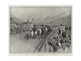 Sport in the Austrian Tyrol, a Peasants' Race at Meran Giclee Print