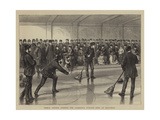 Prince Arthur Opening the Caledonia Curling Rink at Montreal Giclee Print